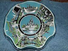 Magic Kingdom Ruffled Glass Candy Dish Vintage Walt Disney World Souvenir Glass