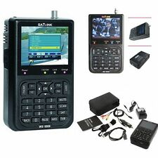"Satlink WS-6906 DVB-S FTA Data Digital Satellite Signal Finder Meter 3.5"" LCD HK"