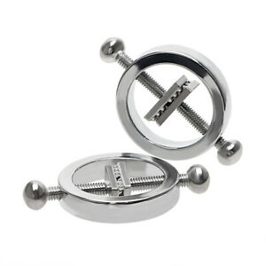 Nipple Clips Adjustable Nipple Shield Ring Steel Barbell Ball Non Piercing Clamp