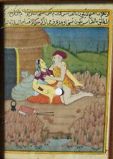 6804:Erotische Moghul-MIniatur Indien Persien 19. Jh.(?),Erotik, Schriftzeichen.