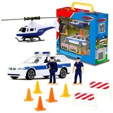 Polizeiauto & Helikopter | Spielset mit Figuren | von Jamara | Die Cast | BMW