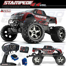 Traxxas 67086-4 1/10 Stampede 4X4 VXL Brushless TSM TQi 4WD RTR Truck Red