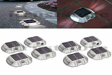 HIGH QUALITY 8 Pack Solar LED Pathway Driveway Lights Walkway Dock Path Step