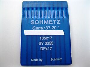 SCHMETZ INDUSTRIAL SEWING MACHINE NEEDLES DPX17 SY3355 CONSEW 206RB