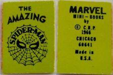 1966 MARVEL MINI BOOK AMAZING SPIDERMAN GIVEAWAY PROMO LIME (GREENISH) NM RARE
