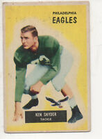 1955 Bowman Football Card #63 Ken Snyder-Philadelphia Eagles
