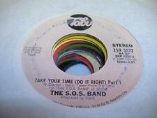 Soul 45 THE S.O.S. BAND Take Your Time (Do It Right) Part 1 on Tabu