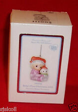 Precious Moments 2011 BABY'S 1st First Christmas Dated Ornament Girl NEW