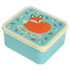 dotcomgiftshop PLASTIC LUNCH BOX WITH PUSH ON LID RUSTY THE FOX DESIGN