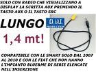 SOLO CAVO AUX MP3 1,4M FIAT Blaupunkt Grande Punto 500 Panda Musa Idea 159 Brera