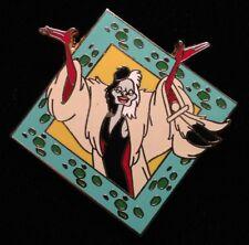 Disney Pin - 101 Dalmatians Cruella De Vil Diamond Villain Starter