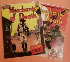 MERCHANTS OF DEATH #1-2 ~ VF 1988 ECLIPSE COMICS ~ STAN WOCH ART