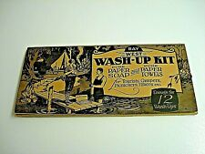 NOS 1920's Bay West WASH-UP KIT Pure Paper Soap & Towels Tourists & Campers MINT