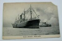 Vintage Steamer Minnesota Seattle Harbor Early 1900s Collectible Rare PostCard