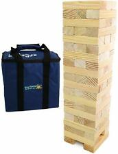 Giant Jenga Stacking Tumble Tower Garden Game 1.5m Wooden Blocks with Carry Bag