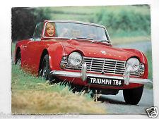 ORIGINAL PROSPEKT TRIUMPH TR 4 1961 SPORT LUXUS LIMOUSINE ENGLAND OLDTIMER