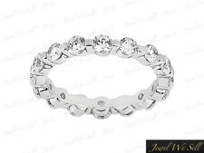 1.6CT Round Diamond Shared Single Prong Eternity Band Ring Platinum F VS2 Ladies