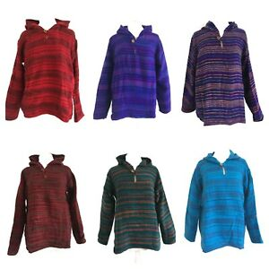 Hippy Warm Indian Acrylic Wool Soft Cosy Jumper Hoodie Festival Poncho Jacket