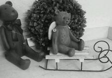 Deko Schlitten aus Holz weiss shabby chic Weihnachtsdeko Weihnachten Christmas