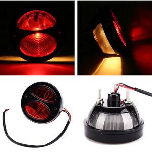 1Pcs Motorcycle Modified Rear Red Halogen Brake Lamp Tailight Stop Warning Ligh