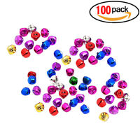 100pcs Metal Jingle Bells for Christmas Decoration Jewellery Making Craft 10mm