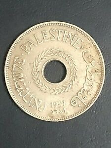 Palestine 20 Mils 1941, Key Date, Only 100,000 minted, Most Rare
