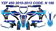 N 196 YAMAHA YZ450F 2010-2013 10-13 DECALS STICKERS GRAPHICS KIT