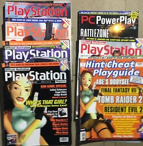 6 PLAYSTATION MAGAZINES vintage