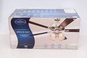 Harbor Breeze Grace Bay 52-in Brushed Nickel LED Indoor Ceiling Fan (5-Blade)