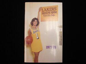 1977-78 Los Angeles Lakers Basketball Yearbook
