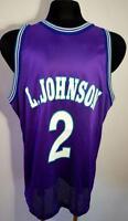 Charlotte Hornets #2 v Basketball Jersey New Men's CHAMPION USA NBA L. JOHNSON