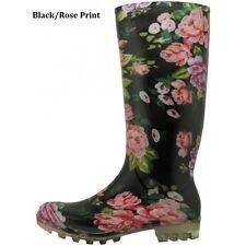 WOMEN FLORAL PRINT RUBBER RAIN BOOTS  5 6 7 8 9 10