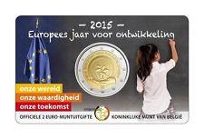 10 * 2 euro Gedenkmünze Belgien 2015 COINCARD Europäische.Jahr für Entwicklung