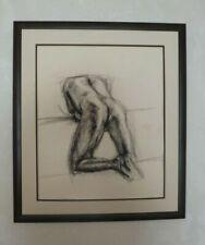Signierte Zeichnungen Erotik mit Kohle-Technik