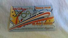 Disney Monorail Co Pilot License Original Rare 2000, +One Co Pilot License Free