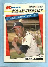 HANK AARON 1987 87 K-Mart 25th Anniversary Collector's Edition #1 - Shipping