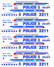 1/24 SCALE OTTAWA ONTARIO POLICE FOR FORD INTERCEPTOR UTILITY -  DOES 4 CARS