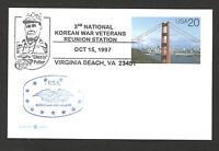 UNITED STATATES-USA- POSTCARD-STATIONERY-NATIONAL KOREAN WAR VETERANS-1997.