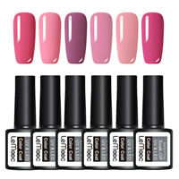 LEMOOC 6Boxen 8ml Nagel Gellack Nail Gel UV Soak Off Nail Art UV Gel Polish Lot
