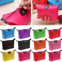 Waterproof Cosmetic Makeup Bag Pencil Case Storage Pouch Purse Handbag Canvas