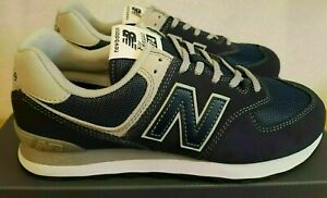 Size 5 New Balance 574 men's navy blue sports gym trainers / EU 38 sneakers