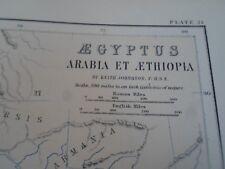 MAPPA 1870 EGITTO ARABIA ET aethopia di Keith Johnston PIASTRA (21)