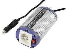 CONVERTISSEUR 12/220V ALLUME CIGARE SECTEUR 150W USB PC PLOT TERRE