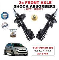 Anteriore Sinistro + Destro Ammortizzatori per Fiat Punto 199 0.9 1.2 1.3 1.4