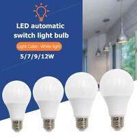 5/7/9/12W E27 Smart Lampe Bewegungsmelder LED Birne Glühbirne Bewegungssensor DE