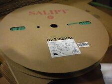 """Salipt Heat Shrink Tubing 2:1, Green 3mm(1/8"""") wide x 200m(656ft) long reel"""