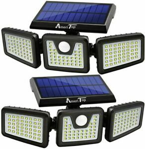 Wireless LED Sensore di movimento solare 3 teste regolabili IMPERMEABILE