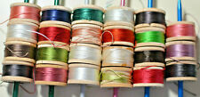 Belding Corticelli And Other Brands - Lot Of 44 Silk Thread - 10 Yards