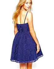 New JACK WILLS Uk 12 14 Blue Floral Organza BOHLAM Strapless Short Prom DRESS