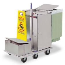 Royce Rolls #F30-LST2E Stainless Steel Std Microfiber Housekeeping Cart